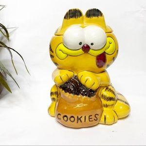 VTG Ceramic Garfield Oreo Cookie Jar Lid